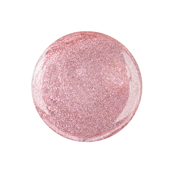 metallic UV nail polish <br>sassy rosé