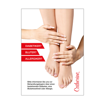Werbeschild <br>Foot Care Information