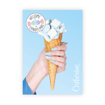 Werbeposter <br>blue sweets