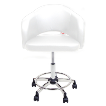 Client Chair <br>Comfy white